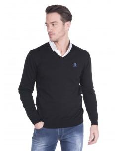 Jersey Giorgio di mare cuello pico con codera - black