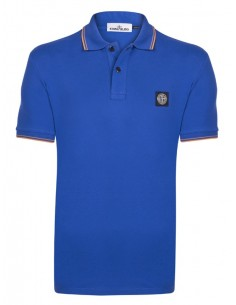 Polo Stone Island con ribeteado -  royal