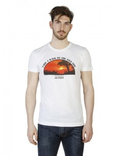 Camiseta Trussardi Slim fit - Wild side blanca