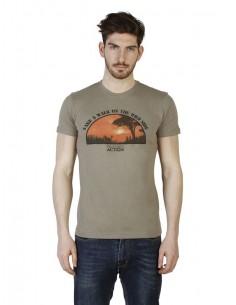 Camiseta Trussardi Slim fit - Wild side militar