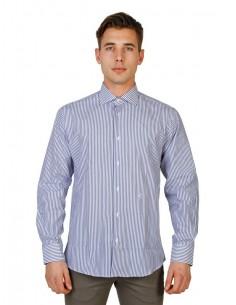 Camisa Trussardi de corte regular - azul a rayas