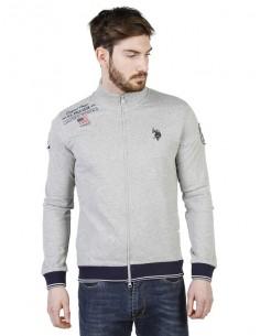 Jersey de cremallera U.S. Polo Assn - gris