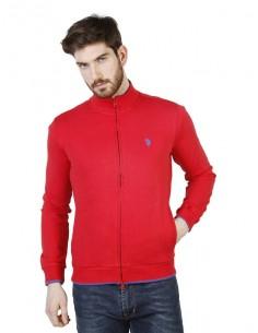 Jersey de cremallera U.S. Polo Assn - red