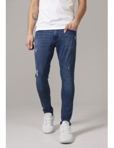 Vaqueros Urban Classics Skinny Ripped - blue denim