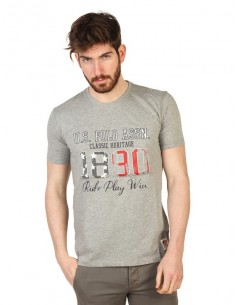 Camiseta US Polo Assn print - gris