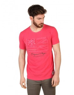 Camiseta US Polo Assn vintage - rojo palido