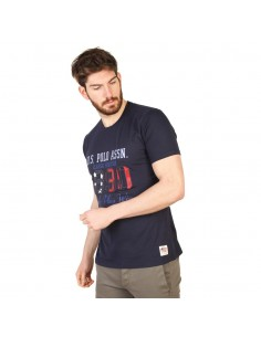 Camiseta US Polo Assn print - navy