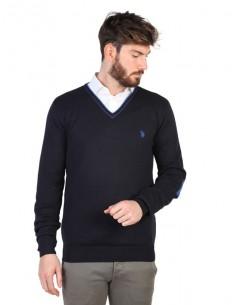 Jersey U.S. Polo Assn cuello V con contrastes - marino