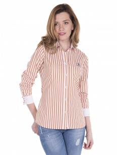 Camisa Sir Raymond Tailor - White/Brown