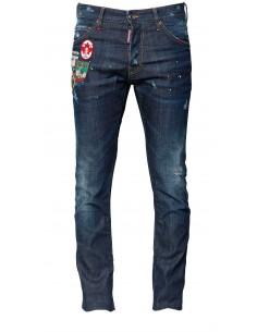 Dsquared jeans con parches - blue