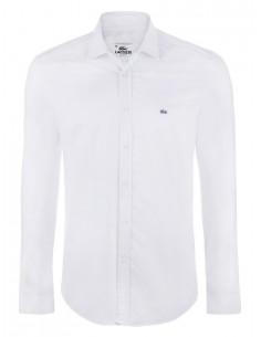 Lacoste camisa lisa blanca