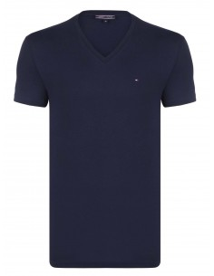 Camiseta Tommy cuello V - marino