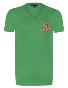 Camiseta Sir Raymond Tailor cuello V - verde