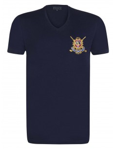 Camiseta Sir Raymond Tailor cuello V - Royal