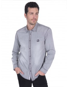 Camisa vaquera Sir Raymond Tailor - Grey denim