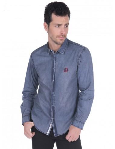 Camisa vaquera Sir Raymond Tailor - light Navy Denim
