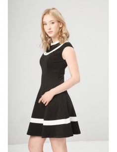 Vestido Fontana 2.0 Dionisia negro/blanco