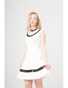 Vestido Fontana 2.0 Dionisia blanco/negro