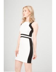 Vestido Fontana 2.0 Benvenuta blanco/negro