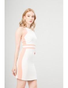Vestido Fontana 2.0 Benvenuta blanco/polvo