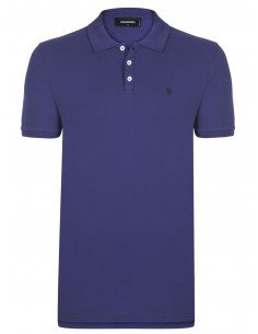 Polo dsquard slim fit embroyed - navy