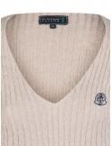 Jersey de ochos Sir Raymond Tailor de cuello pico - beige