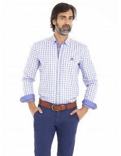 Camisa Sir Raymond Tailor - blue plaid