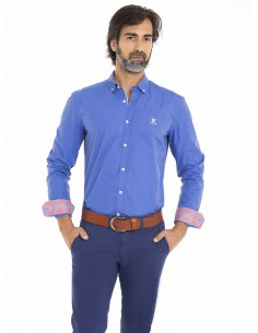 Camisa Sir Raymond Tailor - blue sax