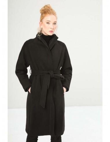 Fontana 2.0 abrigo largo cinturon - negro