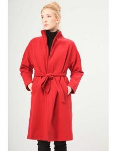 Fontana 2.0 abrigo largo cinturon - rojo