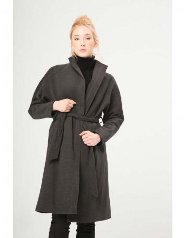 Fontana 2.0 abrigo largo cinturon - antracita