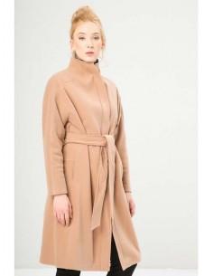 Fontana 2.0 abrigo largo cinturon - camel