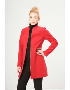 Fontana 2.0 abrigo cremalleras - rojo