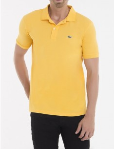 Lacoste polo manga corta slim fit - amarillo