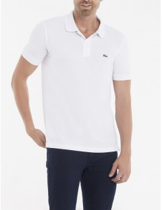 Lacoste polo manga corta slim fit - blanco