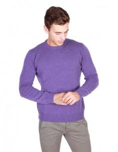 Trussardi jersey cuello redondo - violeta