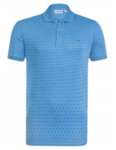 Lacoste polo Spotted Printed - blue