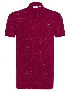 Lacoste polo Spotted Printed - red