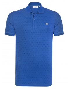 Lacoste polo Spotted Printed - royal
