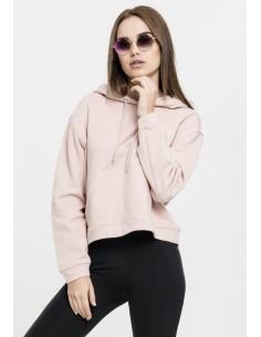 Urban Classics - Sudadera corta - rosa claro