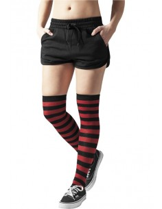Urban Classics - Calcetines mujer Overknee - blk/red
