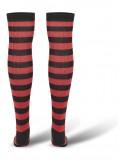 Urban Classics - Calcetines mujer Overknee - blk/red