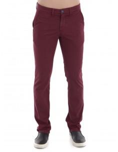 Sir Raymond Tailor pantalón 1037 con microestampado - Granate