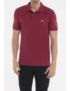 Lacoste polo manga corta slim fit - granate