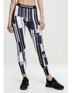 Urban Classics - Leggings sportwear - black/white