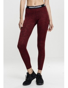 Urban Classics - Leggings sportwear active - rojo
