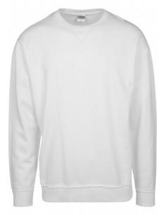 Urban Classics - Sudadera oversized costuras - white