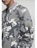 Chaqueta Bomber de Urban Classics en algodón - Snow camo