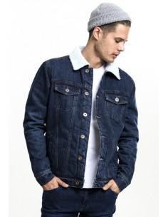 Urban Classics chaqueta denim Sherpa - blue