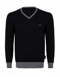 Jersey armani cuello pico black